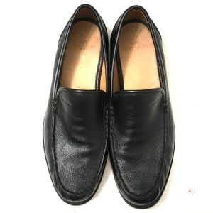 Coach Thomas Mens Black Slip On Leather Shoes